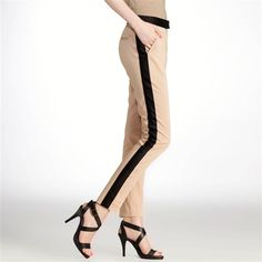 Calças afuniladas para mulher