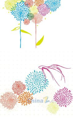 Colorful abstract floral vector design