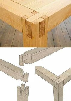 Ted's Woodworking Plans - c Unir madera sin tornillos ni clavos Get A Lifetime Of Project Ideas & Inspiration! Step By Step Woodworking Plans Woodworking Joints, Woodworking Projects Diy, Teds Woodworking, Woodworking Classes, Woodworking Furniture, Furniture Plans, Furniture Design, Woodworking Techniques, Woodworking Organization