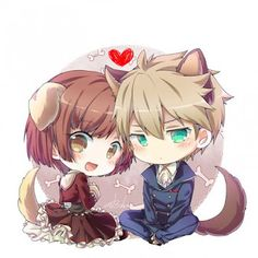 So cute Anime: Dance with Devils Character: Ritsuka Tachibana Rem Kaginuki Anime group: dance-with-devilsx.… Ritsuka And Rem-Dance with Devils Kawaii Anime, Cute Anime Chibi, Kawaii Chibi, Anime Love, Manga Anime, Manga Art, Dance With Devils, Cute Chibi Couple, Otaku