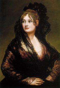 GOYA Francisco José de Goya y Lucientes - Spanish (Fuendetodos Zaragoza 1746-1828  Bordeaux) ~ 'Isabel de Porcel