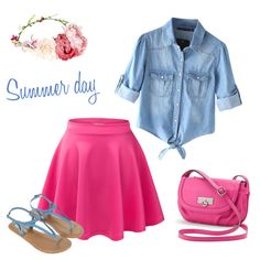 Summer day by adel-en on Polyvore featuring Chicnova Fashion, Accessorize and Rosetti