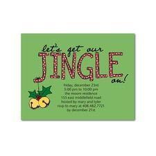Jingle On Party Invitations