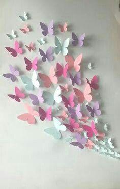 Papier Wand Schmetterling – Wandkunst – Papier Schmetterling von … Paper Wall Butterfly – Wall Art – Paper Butterfly of … Origami Butterfly, Butterfly Wall Art, Paper Butterflies, Butterfly Crafts, Beautiful Butterflies, Butterfly Mobile, Diy Butterfly Decorations, 3d Paper Flowers, Wall Decorations