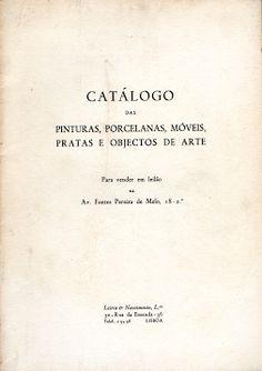 Catálogo das Pinturas, Porcelanas, Móveis Pratas e Objectos de Arte | VITALIVROS // Livros usados, raros & antigos //