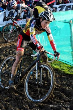 Winner of the Women's event - Sanne Cant, Belgium National Cyclo Cross Champion.