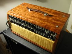Bubinga and maple cabinet, for my beloved Mesa Boogie MK IV guitar amp.