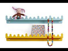 Doodle drop wandplank Roommate - pastel blauwgroen kinderkamer