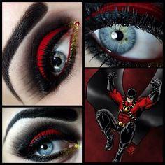 makeup DC Comics Eye shadow Creative Eye Liner Mascara Art theme Harley Quinn Harleen Quinzel