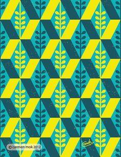 Geometric Pattern Illustration http://www.carmenmokstudio.com/geometric-pattern/