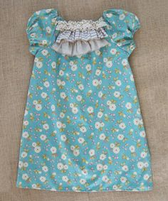 Loving this Turquoise Garden Blossom Peasant Dress - Infant, Toddler & Girls on #zulily! #zulilyfinds