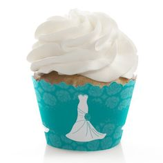 Wedding Dress Teal - Cupcake Wrappers - Set of 12 ** Quickly view this special product, click the image : Baking tools