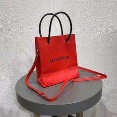 Red Handbag, Balenciaga, Shopping Bag, Tote Bag, Bags, Red Tote Bag, Handbags, Totes, Shopping Bags