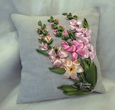 Wonderful Ribbon Embroidery Flowers by Hand Ideas. Enchanting Ribbon Embroidery Flowers by Hand Ideas. Ribon Embroidery, Ribbon Embroidery Tutorial, Learn Embroidery, Embroidery For Beginners, Embroidery Patterns, Embroidery Supplies, Embroidery Stitches, Advanced Embroidery, Embroidery Tattoo