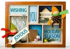 UPS Holiday card, 2010. Love the box allusion.