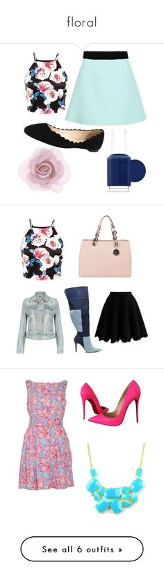 """""""floral"""" by asrobertsemail on Polyvore featuring FAUSTO PUGLISI, Fabio Rusconi, Accessorize, Essie, women's clothing, women, female, woman, misses and juniors"""