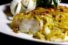 Frei nach einem Rezept von Steffen Henssler. Die Wasabi-Kartoffelkruste bringt Schwung in dieses Gericht.