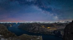The Milky Way over Pulpit Rock, Norway - by Frank Otto Pedersen Pulpit Rock Norway, Nordic Lights, Some Beautiful Pictures, Photoshop, World Photo, Milky Way, Landscape Photographers, Beautiful World, Scenery