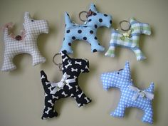 I would make these if I had the patience.  Blue Terriers!