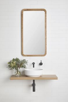 The Bombo vanity shelf is the perfect solution for any small bathroom space. Bombo's simple and elegant design will compliment any style of counter set basin and tap-ware. Boho Bathroom, Bathroom Trends, Bathroom Renovations, Small Bathroom, Master Bathroom, Master Master, Bathroom Ideas, Bathroom Designs, Colorful Bathroom