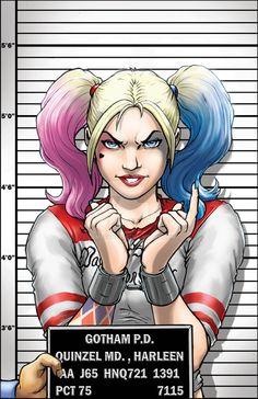 http://www.kidstoysonlineshopping.com/category/quinny/ Harley Quinn Mug Shot by JamesRod71