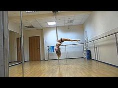 Tricks and transitions. Pole dance - YouTube