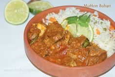 Shab's Cuisine: Mutton Buhari (A Kerala style Mutton Curry) and a Prize!