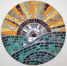 Mosaic Mandala. Make it look like a sunrise with brighter colours