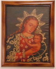Vintage Antique Style Religious Oil Painting of Madonna & Baby Framed Needful Things, Madonna, Vintage Antiques, Mona Lisa, Vintage Paintings, 21st, Oil, Frame, Artwork