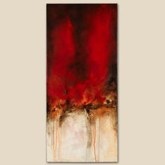 abstract acrylic painting art vertical gallery wrapped by kydo