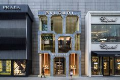 Completed in 2018 in Kuala Lumpur, Malaysia. Images by Daria Scagliola and Edit - Stijn Brakkee. Bulgari's flagship store in Kuala Lumpur has opened with a new façade that imagines the luxury brand's heritage, and experiments with traditional. Kuala Lumpur, Design Blog, Store Design, Facade Design, Exterior Design, Architecture Details, Interior Architecture, Luxury Branding, Branding Design