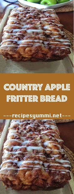 47 Ideas For Bread Baking Recipes Apple Fritters Apple Fritter Recipes, Apple Fritter Bread, Banana Apple Recipes, Apple Baking Recipes, Apple Pie Bread, Best Apple Recipes, Apple Bread Recipe Healthy, Baked Apple Fritters, Spice Bread