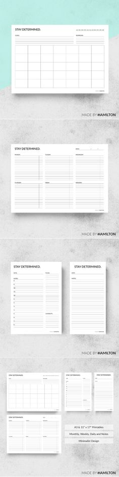 Branding Pack Fusion Stationery Templates Stationery - daily planner word template