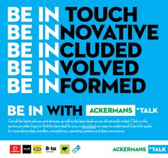 Now you can be the IN lady with a new cellular device. Keep communicating easily with Ackermans Celluar