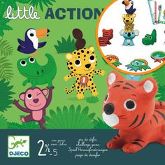 Little Action is a wonderful game to get your children moving and learning at the same time. Children follow the visual instructions (pictures) on the action cards and if they succeed in completing the task, they win a medal token. Your child will learn the skills of throwing, catching, balancing and aiming using the six chunky animals for each action. When all the action cards have been used up, the player with the most medals wins. Action Cards, Games For Toddlers, School Games, School Readiness, Fine Motor Skills, Your Child, Card Games, Party Time, Africa