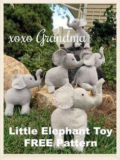 xoxo Grandma: Little Elephant Toy Pattern - FREE Pattern