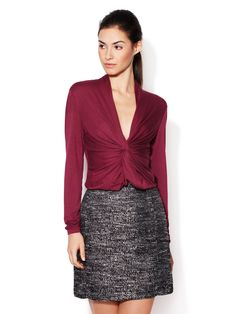 Knotted Front Jersey Top by One Forty 8 by Lafayette 148 New York at Gilt