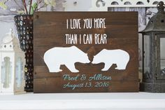 I Love You More Than I Can Bear Rustic Wedding by DistressedLuv