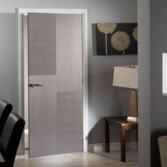 Bespoke Hermes Chocolate Grey Flush Door - Prefinished.    #allgrey #greyinterior #door #internaldoor #bespokedoor #contemporarydoor #interiordoor