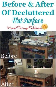 Before And After Photos From Sandra, Who Decluttered Her Problem Flat  Surface, A Kitchen