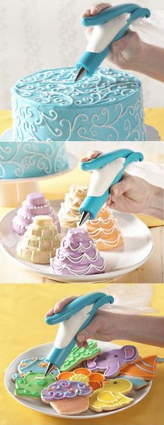 Draw the designs on cakes with this handy Deco Pen that allows you to decorate the cakes and cookies with all detailed & desired designs.