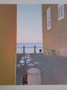 Leonardo Cremonini: détail Tropea Abstract Landscape, Landscape Paintings, Figurative Art, Creative Inspiration, Contemporary Artists, Painting & Drawing, Watercolor, Fine Art, Drawings