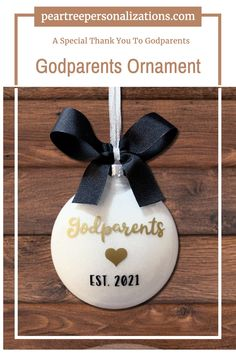 The perfect gift for your godparents. A godparents ornament is a great godparents proposal idea. Godparents Christmas Ornament Goddaughter Gifts, Godparent Gifts, Godchild, Baptism Ideas, Boy Baptism, Baby Christening, Engagement Ornaments, Wedding Ornament, Confirmation Gifts