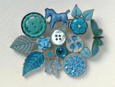 Grainne Morton, Scottish Jewellery Artist...Making Jewelry Out Of Old Buttons.