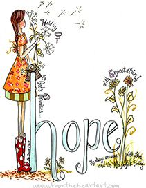 Hope Girl With Dandelions Print