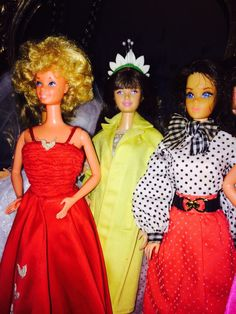 1980'S BARBIE DOLL, sKIPPER DOLL RE-BODIED ON A fASHINISTA bARBIE BODY, AND A GORGEOUS TNT BARBIE..