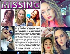 Find missing Julianna Crump! is a post about a teen girl who has been missing for four months and is classified as an Endangered Runaway.