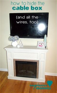 How To Mount Your Tv Above A Fireplace And Hide Your Cable Box Diy