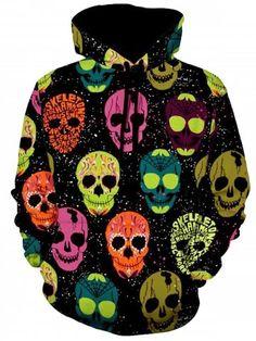 Interstate Apparel Mens Deadphones Skull Black Fleece Zipper Hoodie Black