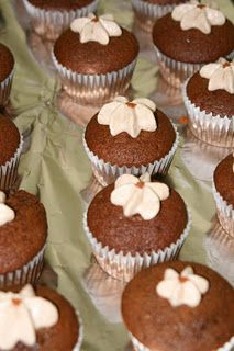 gingerbread cupcakes. Lots of ingredients, but look awesome.